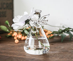 Glass Angel Vase - table decorations