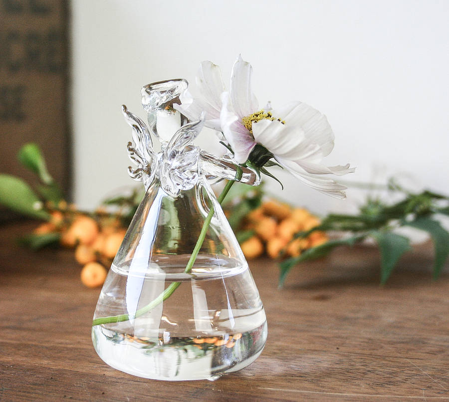 Glass Angel Vase By Bonnie And Bell Notonthehighstreet Com