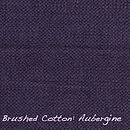 Brushed Cotton Aubergine