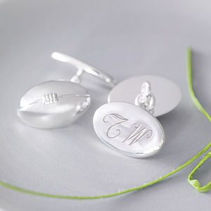 Rugby Ball Cufflinks - personalised