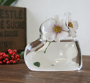 Glass Vase 'Heart' - vases