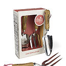 Fork And Trowel Gift Box   Stainless Steal