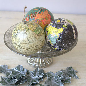 Globe Tree Decorations - tree decorations