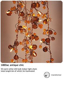 'Antique Crystal' Fairy Lights - lighting
