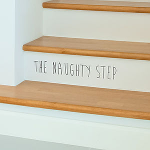 'The Naughty Step' Children's Wall Sticker