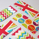 Pack Of Six Bright Christmas Cracker Cards - christmas decorations