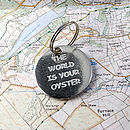 The World Is Your Oyster Keyring