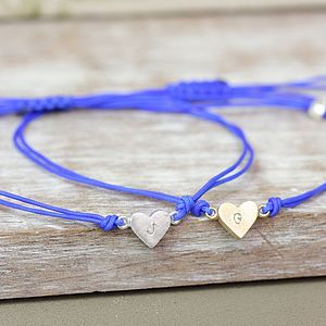 Personalised Blue Dainty Heart Bracelet - jewellery