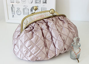 Luxury Pink Quilted Toiletry Bag - wash & toiletry bags