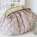 Luxury Pink Quilted Toiletry Bag