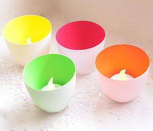 Neon Pop Porcelain Votive Holder - candles & candlesticks