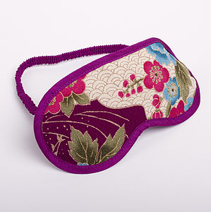 Japanese Kimono Eye Mask Botan - bridal beauty