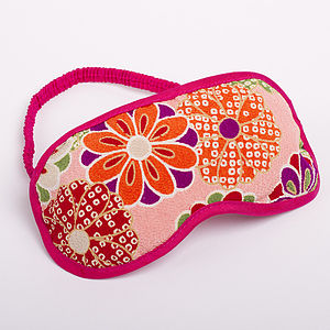 Japanese Kimono Eye Mask Kiku - women's sale