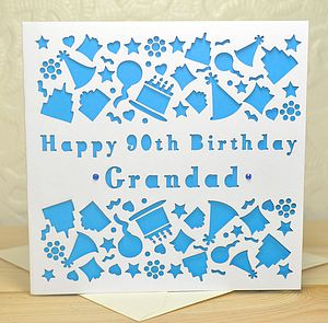 Personalised Laser Cut Birthday Card - special age birthday cards