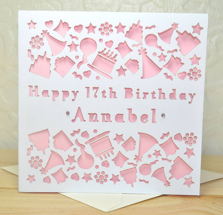personalised laser cut birthday card by sweet pea design – Birthday Cards Personalised