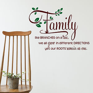 Family Like Branches Wall Sticker Quote - home accessories