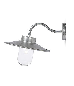 Galvanised Swan Neck Light