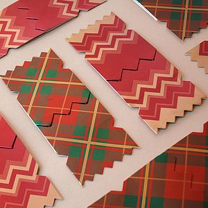 Pack Of Six Traditional Christmas Cracker Cards - seasonal cards