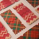 Pack Of Six Traditional Christmas Cracker Cards