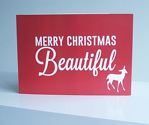 'Beautiful' Christmas Card