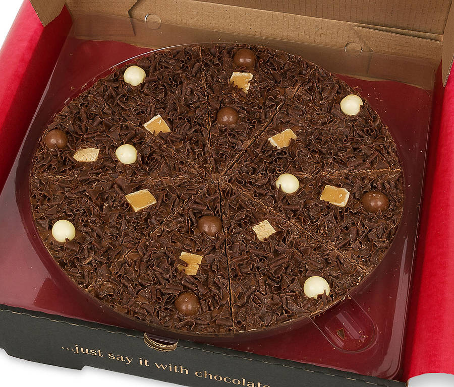 heavenly honeycomb chocolate pizza by the gourmet chocolate pizza co ...