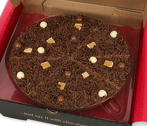Heavenly Honeycomb Chocolate Pizza - chocolates & confectionery