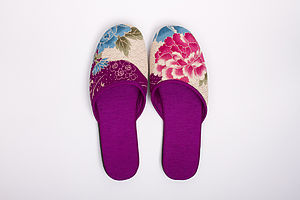 Japanese Kimono Slippers Botan - women's fashion