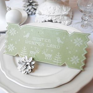 Alpine Christmas Cracker Card - table decorations