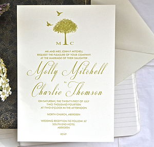 L'arbe Wedding Stationery - save the date cards