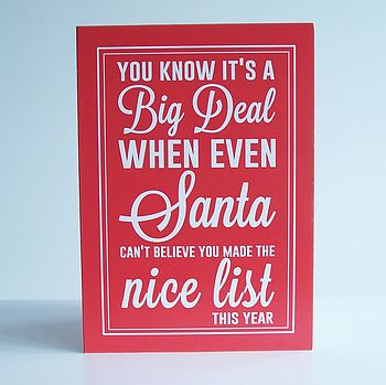 'Even Santa Can't Believe…' Christmas Card