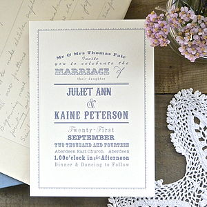 Florence Wedding Stationery - save the date cards