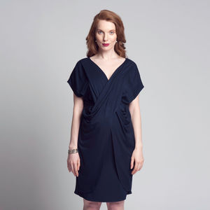 Drape Front Dress - women's fashion