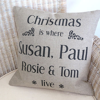 'Christmas Is Where We Live' Cushion