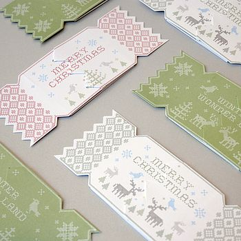 Alpine Christmas Cracker Card Pack