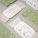 Pack Of Six Alpine Christmas Cracker Cards One
