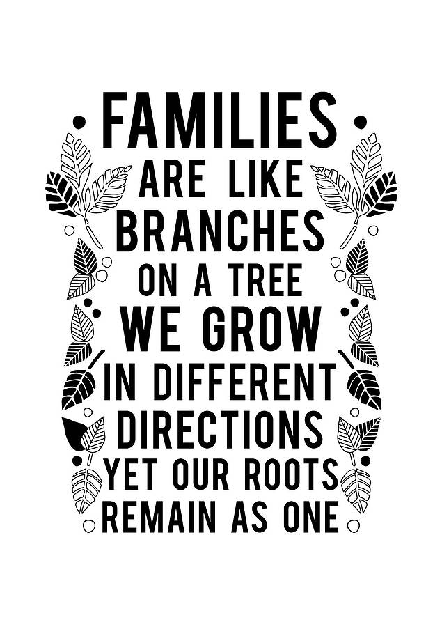 Families Are Like Branches On A Tree Print By Ant Design Gifts