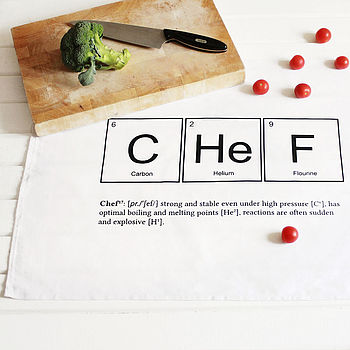 Periodic 'Chefistry' Tea Towel