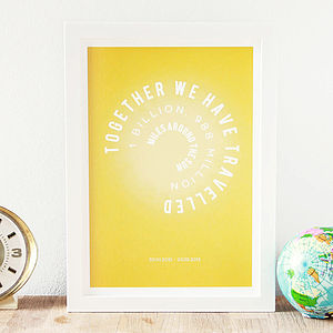 Personalised Sun Miles Anniversary Print - prints & art sale