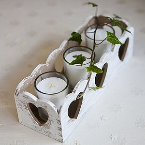 Distressed Vintage Heart Candle Holder - candles & candlesticks