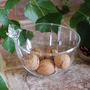 Perching Bird Glass Dish