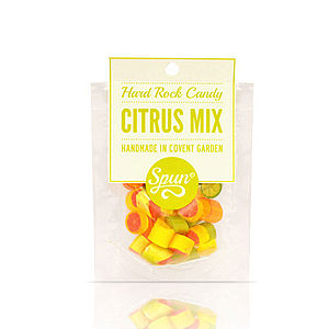 Citrus Mix Hard Rock Candy In A Bag