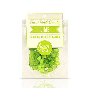 Lime Hard Rock Candy In A Bag - sweets