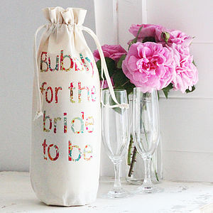 Personalised Hen Party Bottle Bag - wedding wrap