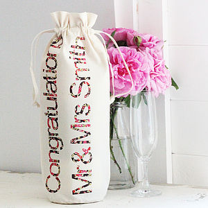 Personalised Champagne Bottle Bag - wedding cards & wrap