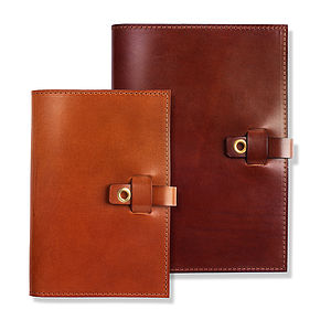 Personalised Leather Notebook - writing