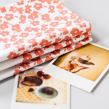 Tea Towels with Cupcake Photo