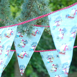Vintage Style Christmas Fabric Bunting - garlands & bunting
