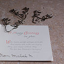 Set Of Three Deer Paper Clips