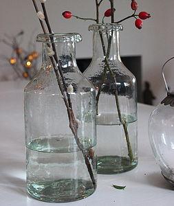 Glass Bottle Vase - dining room