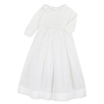 Baby Girl Winter Cashmere Christening Gown